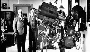 Gus & Louis Kerasotes The Strand Theatre's New Simplex Motion Picture Projection Machine Installed in April of 1933